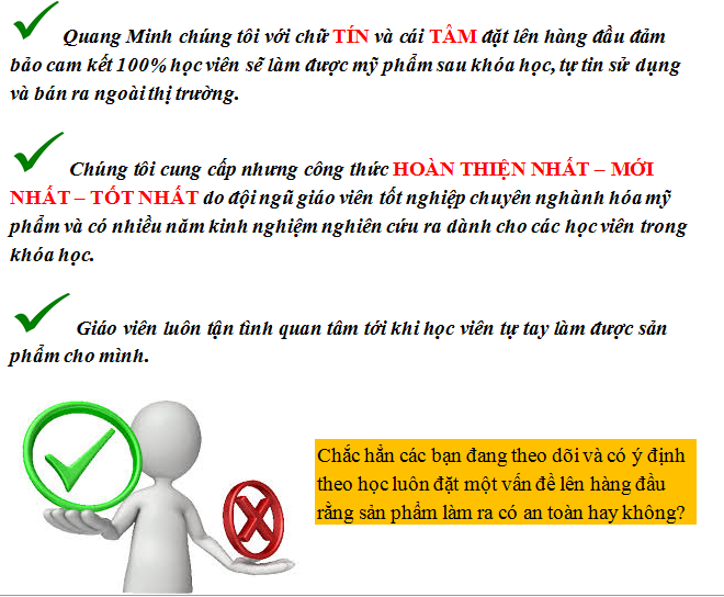 Dạy nghề mỹ phẩm Quang Minh