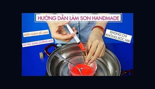 5 cách làm son môi handmade