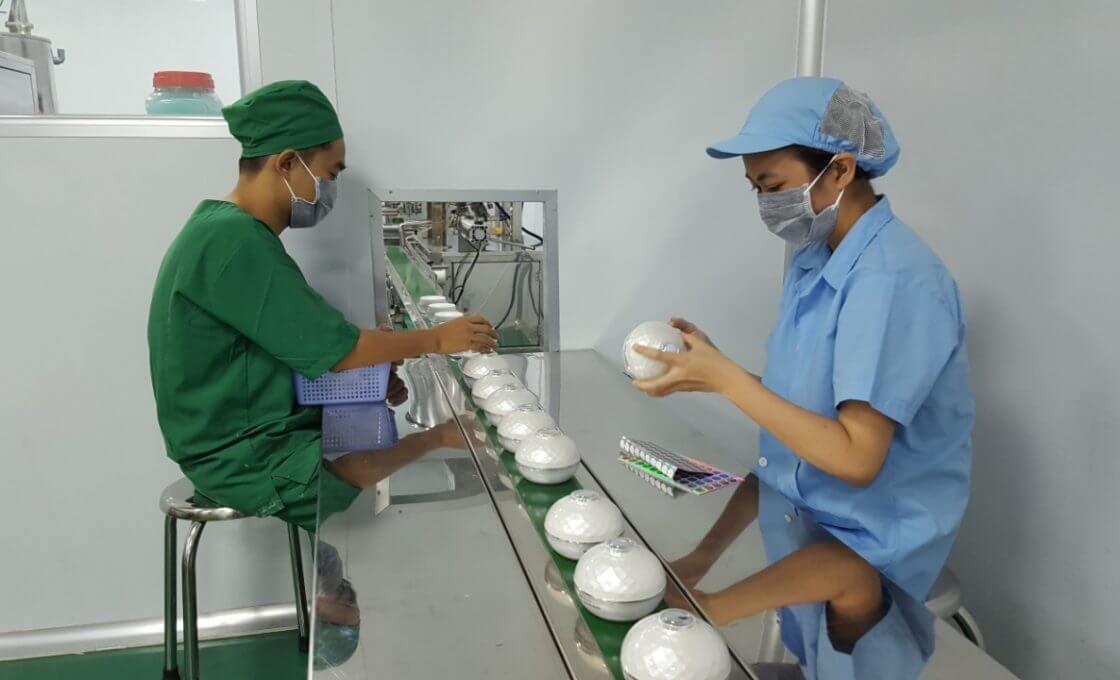 Gia công kem trị mụn đạt chuẩn Pasteur, thành phần hoàn toàn thiên nhiên