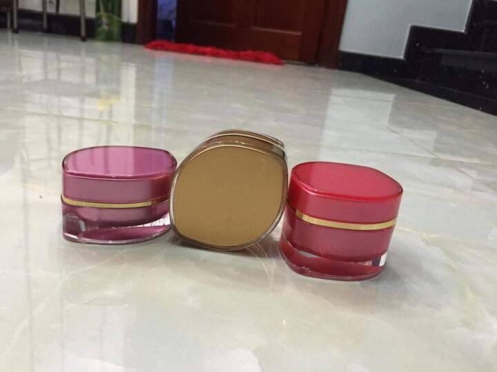 hũ mỹ phẩm chiếc lá 15g và 30g-Quang Minh Cosmetic