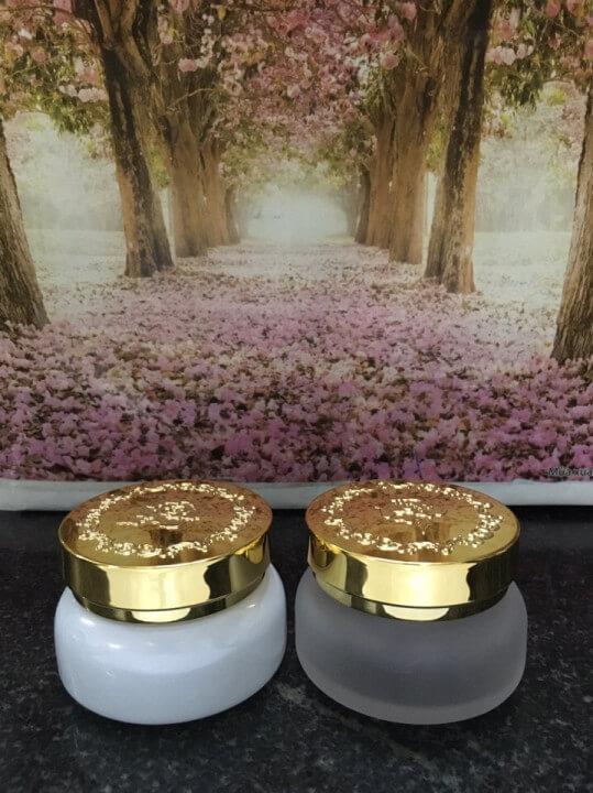 hũ đựng mỹ phẩm có hoa văn loại 30g-Công ty Quang Minh Cosmetic