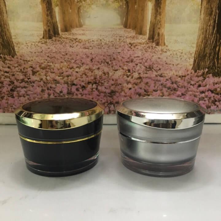Hũ đựng mỹ phẩm inox loại 25g-Quang Minh Cosmetic