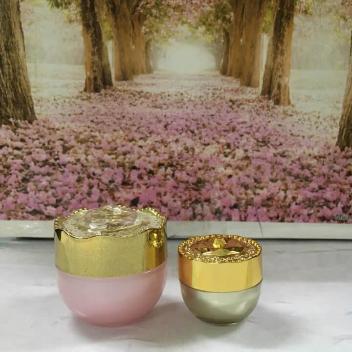hũ đựng mỹ phẩm dạng bông mai loại 10g-15g-Quang Minh Cosmetic