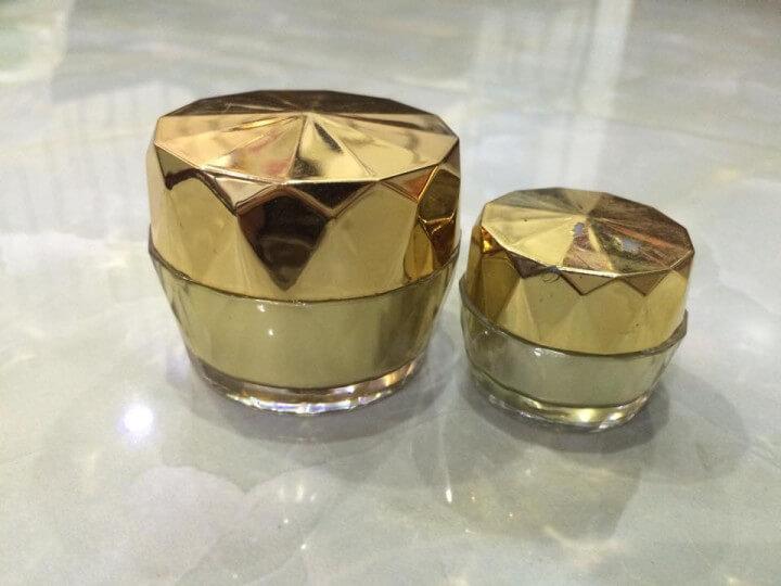 Hũ đựng mỹ phẩm dạng khía loại 10g và 15g-Quang Minh Cosmetic