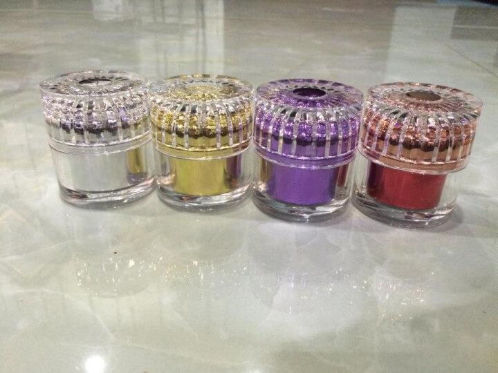 Hũ mỹ phẩm kim cương sọc loại 15g-Quang Minh gia công mỹ phẩm