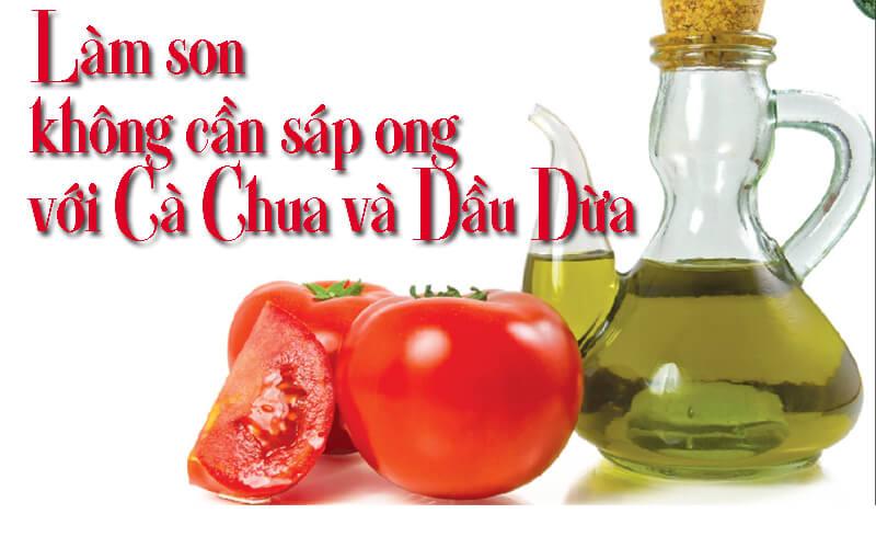 Công thức son môi handmade với cà chua và dầu dừa
